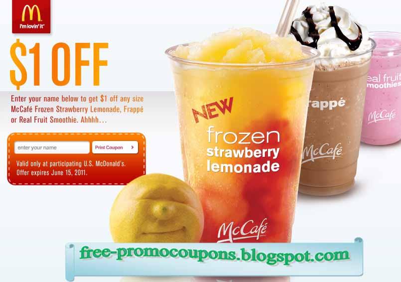 Mcdonalds coupon 2018