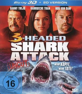 3 Headed Shark Attack 2015 Dual Audio Hindi Bluray Download
