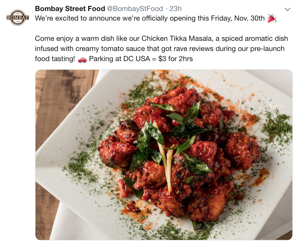 Ay Street Food New Indian Restaurant Opening Friday Nov 30 On Park Road