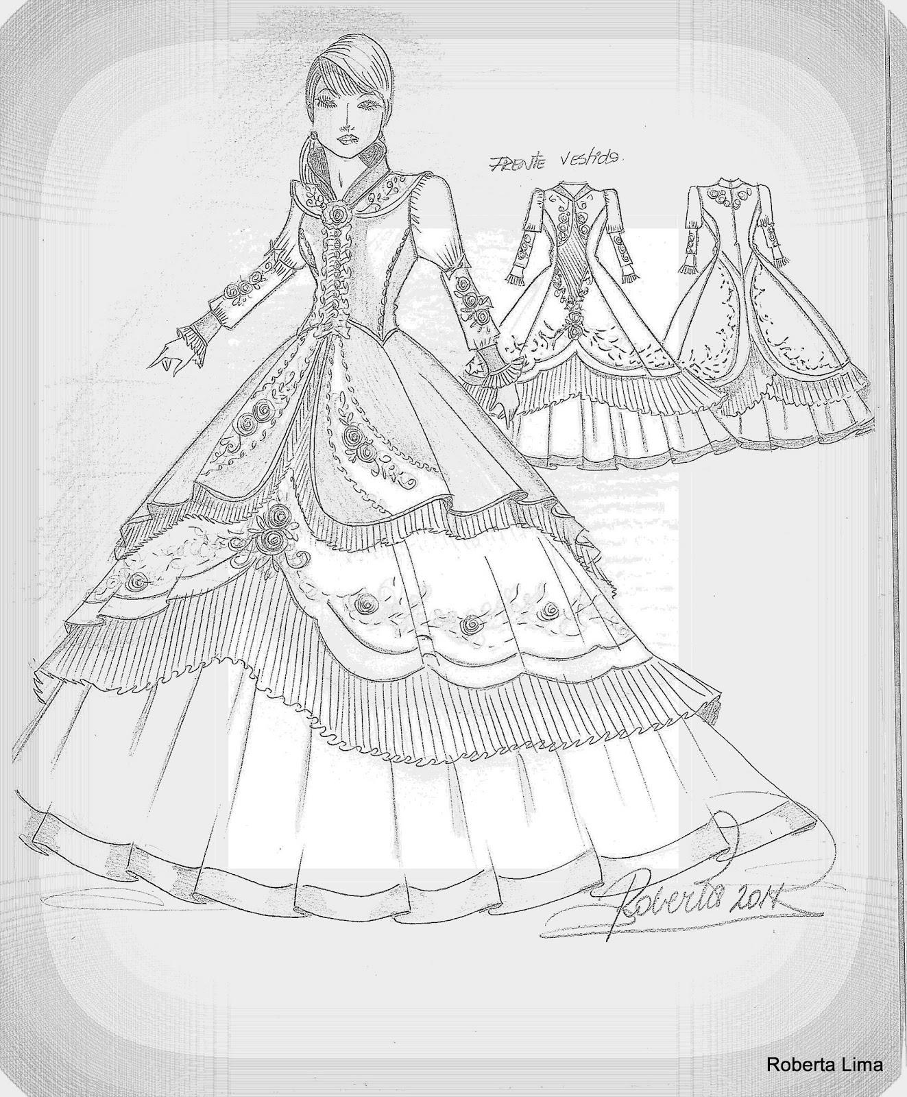 Vestidos De Prenda Desenhos De Vestidos