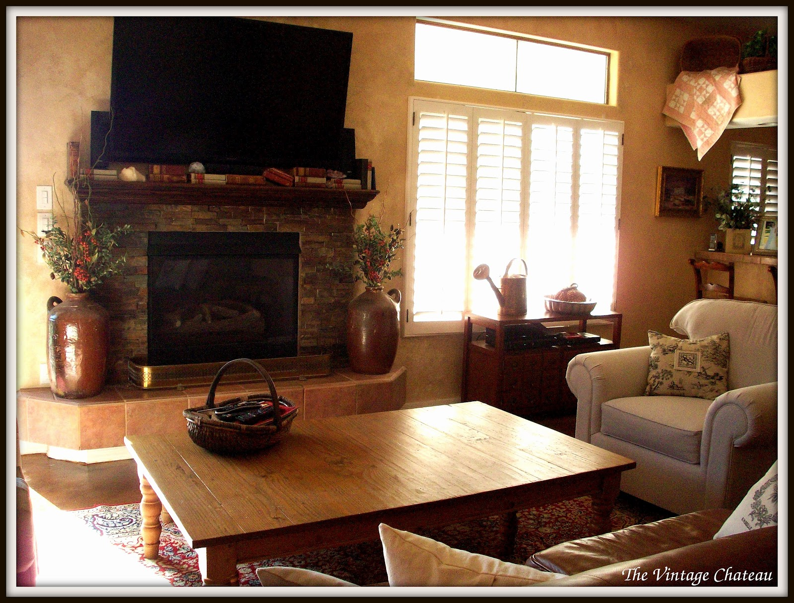 The Vintage Chateau: Family Room Makeover