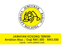 Jawatan Kosong Terkini di Lembaga Juruukur Bahan Malaysia - Gaji RM1,500 - RM3,500