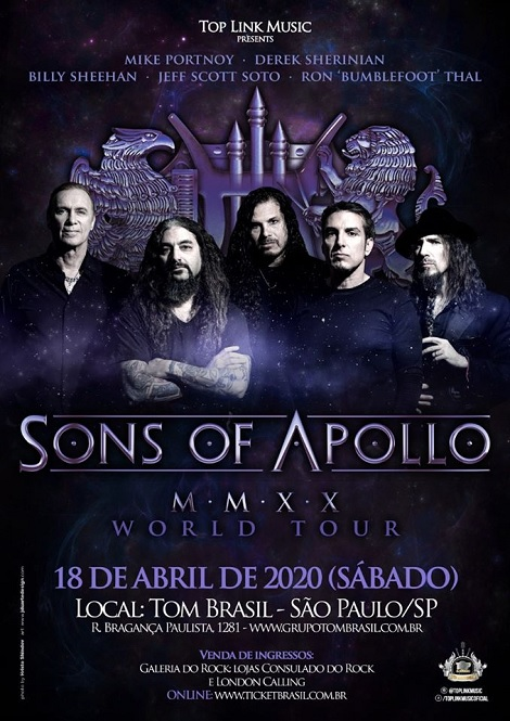 18-04-2020 - SONS OF APOLLO - WORLD TOUR - São Paulo - SP