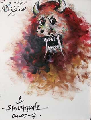 lukisan gambar jin yang paling menakutkan