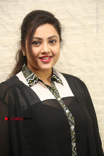 Tamil Actress Meena Latest Stills in Black Dress at TSR TV9 Awards Press Meet  0005.JPG