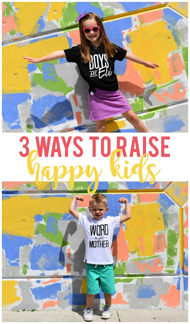 Sometimes I wish my kids came with a manual on how to raise them!  But thankfully these tried and true principles for ways to raise a happy kid are there as a guideline.