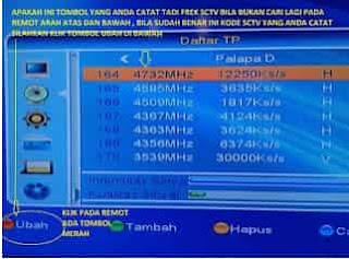Cara Memasukan Kode Frekuensi Baru Manual Semua Channel Tv Satelit