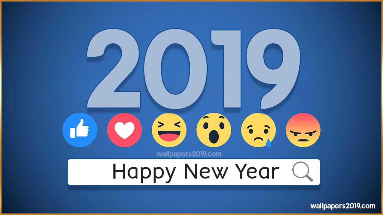 happy new year 2019 facebook emoji