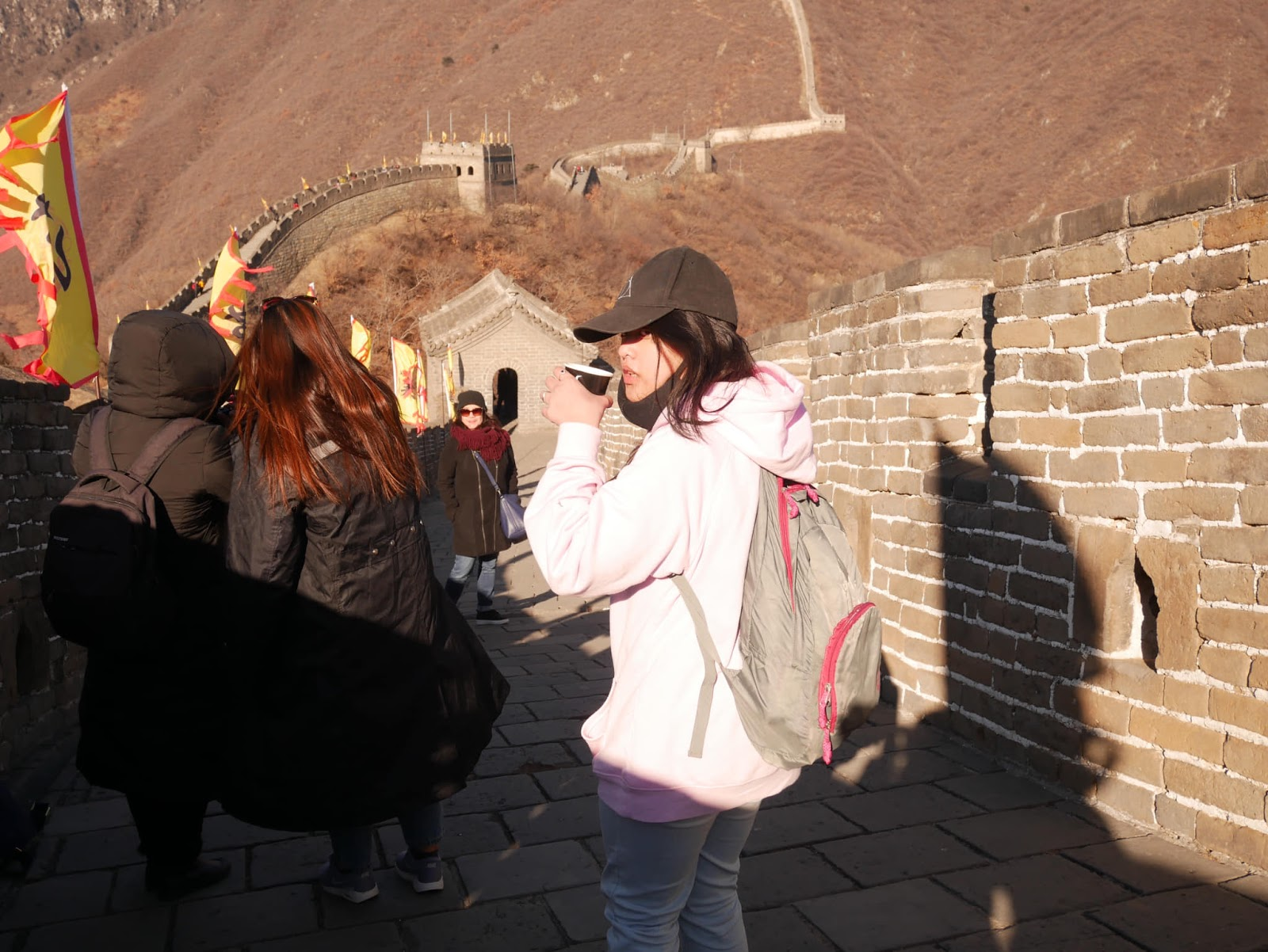 Visiting Great Wall of China during a layover tour