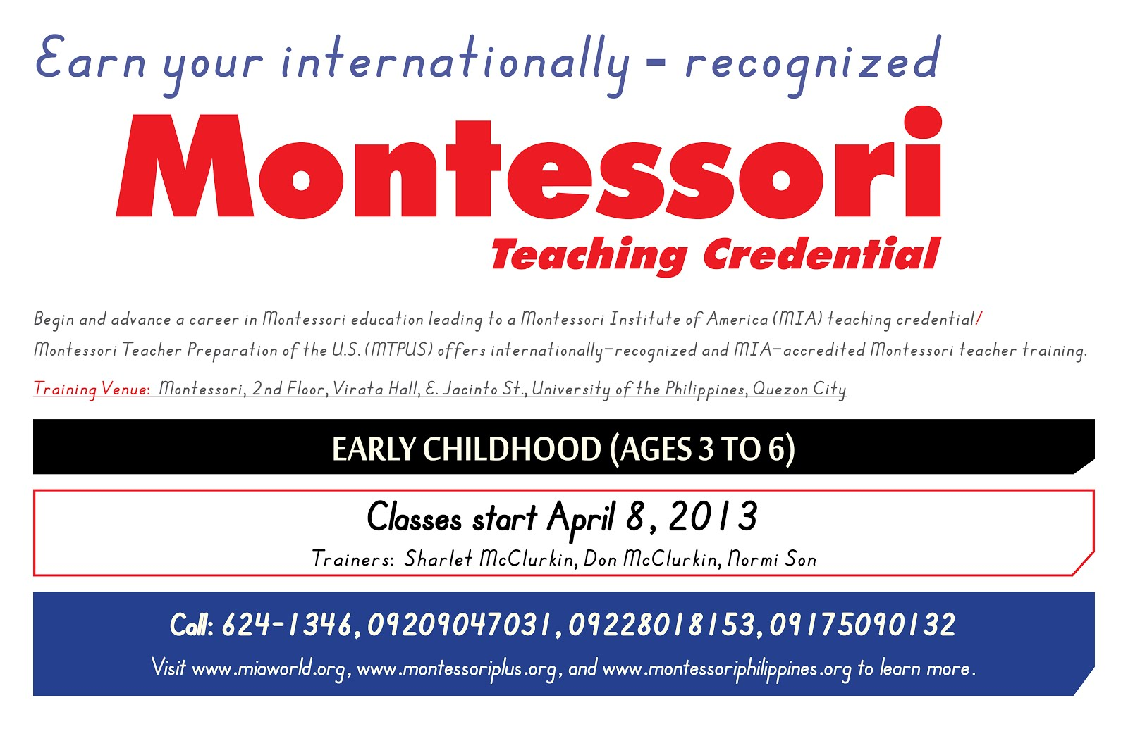 Montessori and other nontraditional education programs