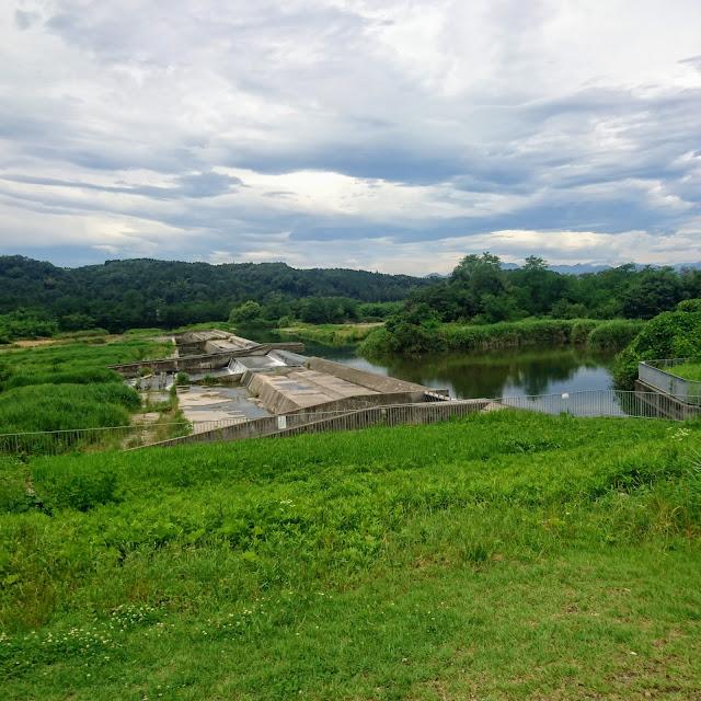 多摩川サイクリングロード 昭和用水堰