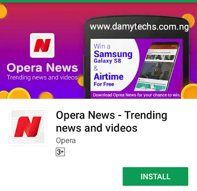 How to win Samsung galaxy on opera news app