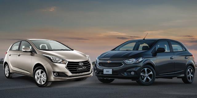Novo Chevrolet Onix 2017 x Hyundai HB20
