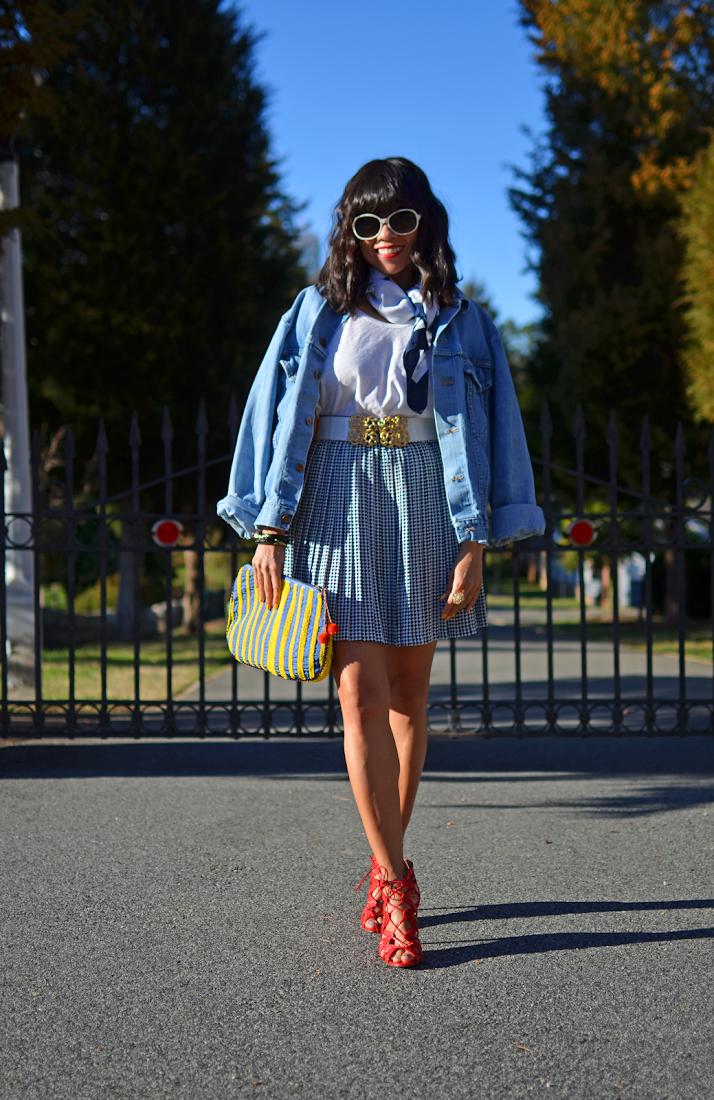 OVERSIZED DENIM JACKET STREET STYLE