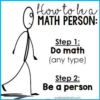 We are all math people! growth mindset poster for a math classroom