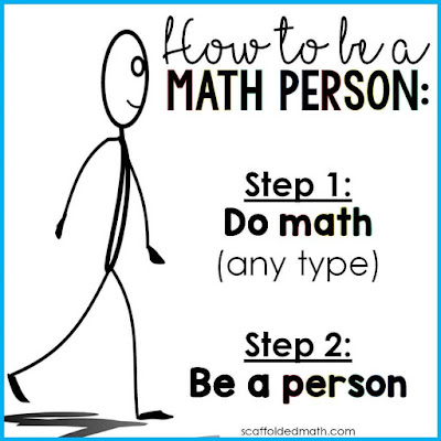 "We are all math people! In this post is a free How to be a Math Person poster to help instill a growth mindset in your math classroom. Also includes a ""How to be a Maths Person"" version for international teachers."