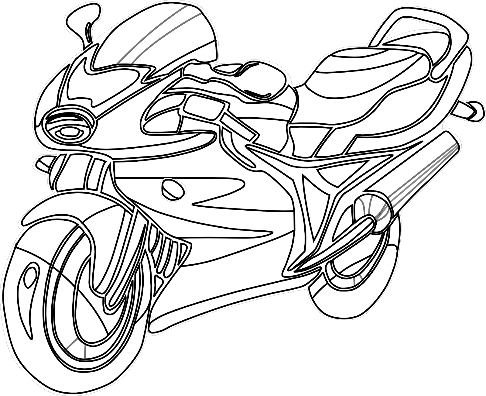 Motorcycle Coloring Drawing Free Wallpaper Anggela Coloring Book