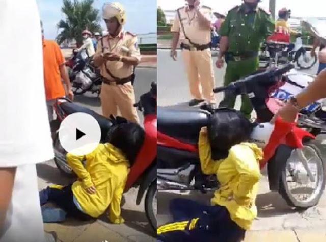 Bị 'tố' bắn người phụ nữ vi phạm giao thông, CSGT nói gì?