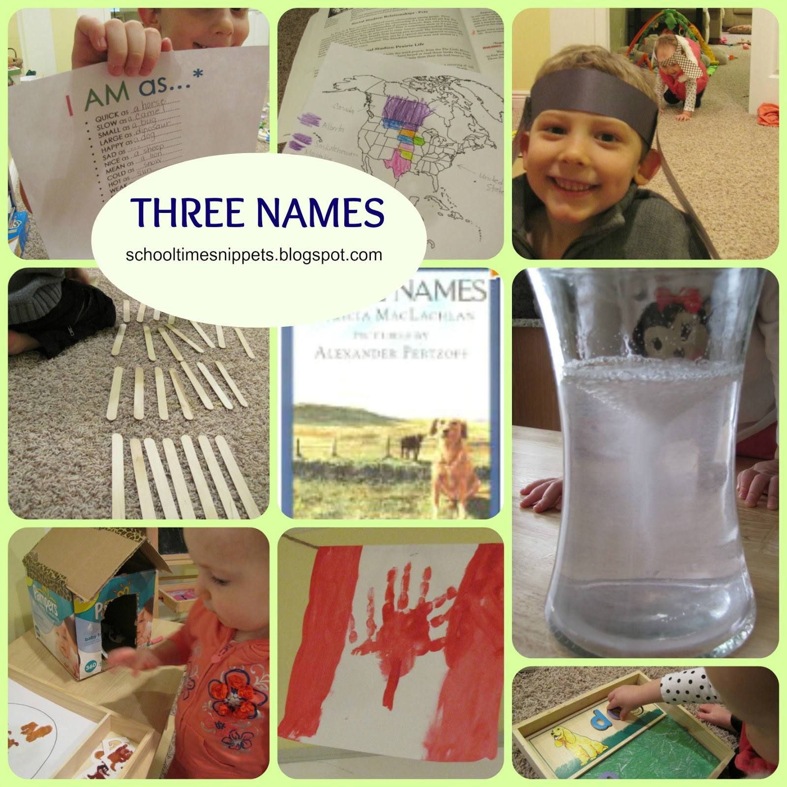Learning With Five In A Row Three Names