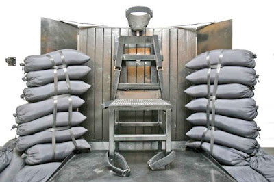 Chair used for firing squad executions in Utah