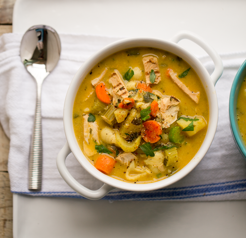 vegan chicken soup