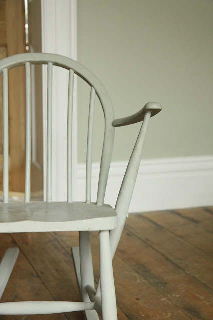 high skirting boards repainted Ercol chair