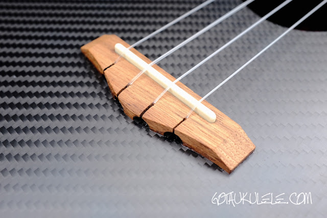 Klos Carbon Fibre Tenor Ukulele  bridge
