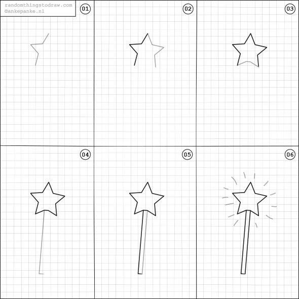 Learn to draw a magic wand for kids