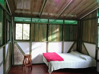 interior of bed in Costa Rica cabina