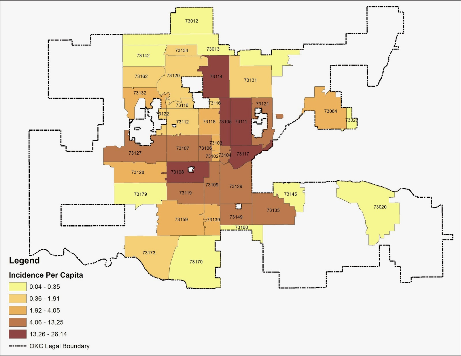 Oklahoma City Ok Zip Code Map.Carless In Okc Where Do The Children Play Gang Violence In Okc