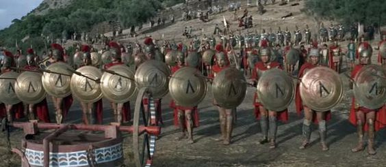 "The 1962 film ""300 Spartans"", starring Richard Egan.  Filmed around the Lake Vouliagmeni, Loutraki, Greece"