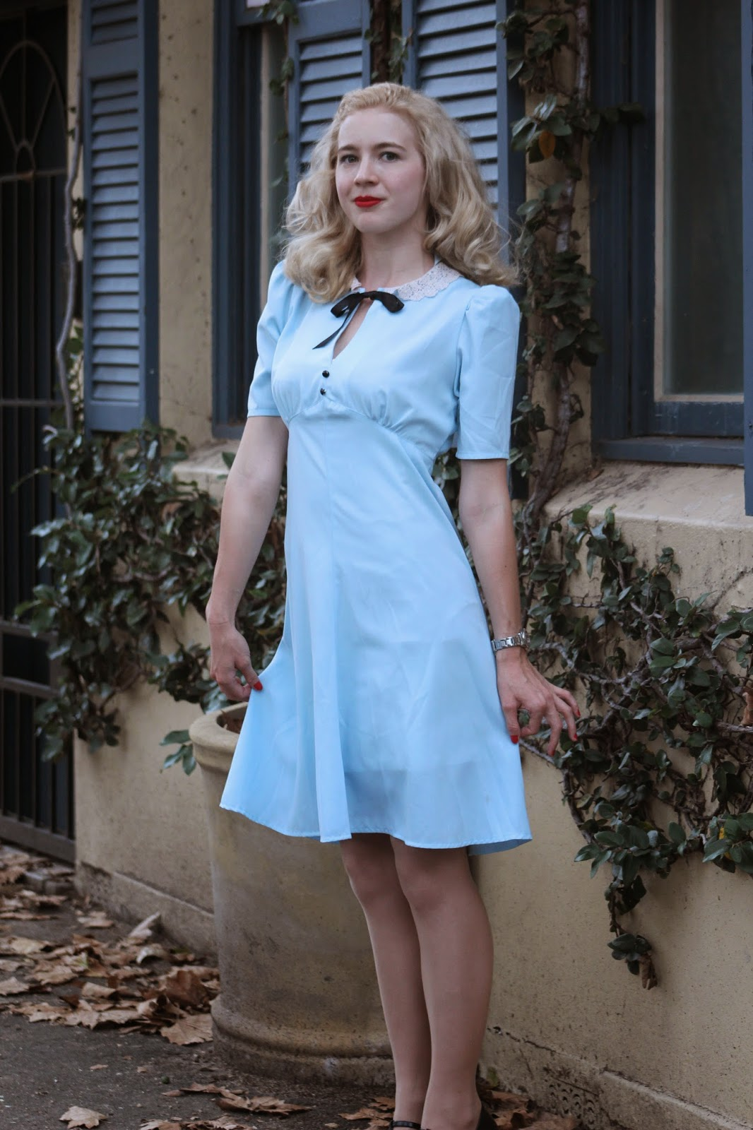 Tara Starlet 1940s 40s Style: Baby Blue In Darlinghurst