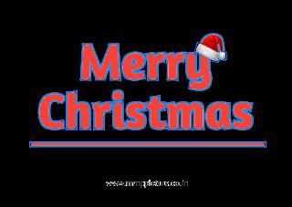 Brand New Christmas Stylish Text PNG