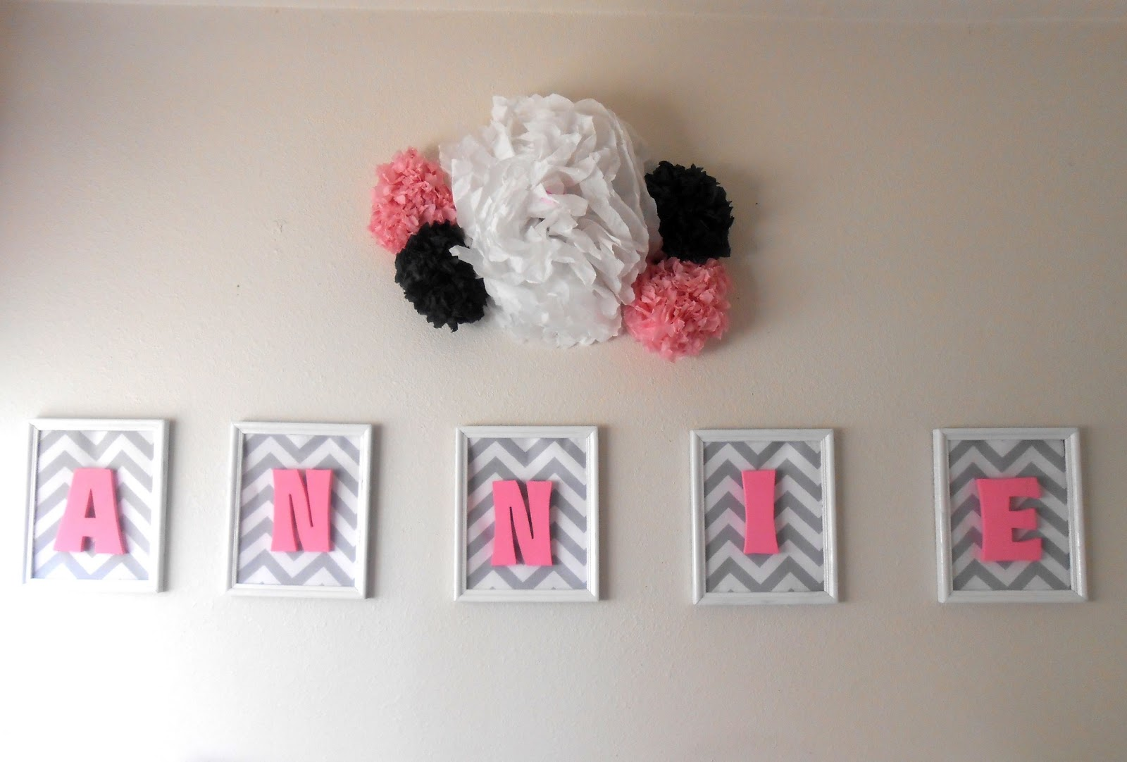 how to make your childs room pop by putting wooden letters in picture frames baby name wall art