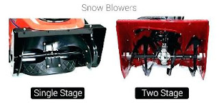 two stage vs one stage snow blower