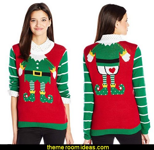 Tattooed Elf Christmas Sweater   ugly sweaters - Christmas ugly sweaters  - decorate yourself - womens ugly sweaters - ugly mens sweaters - embellished ugly sweaters - fun sweaters - novelty sweaters - Christmas party sweaters - quirky party sweaters -  Christmas party hats