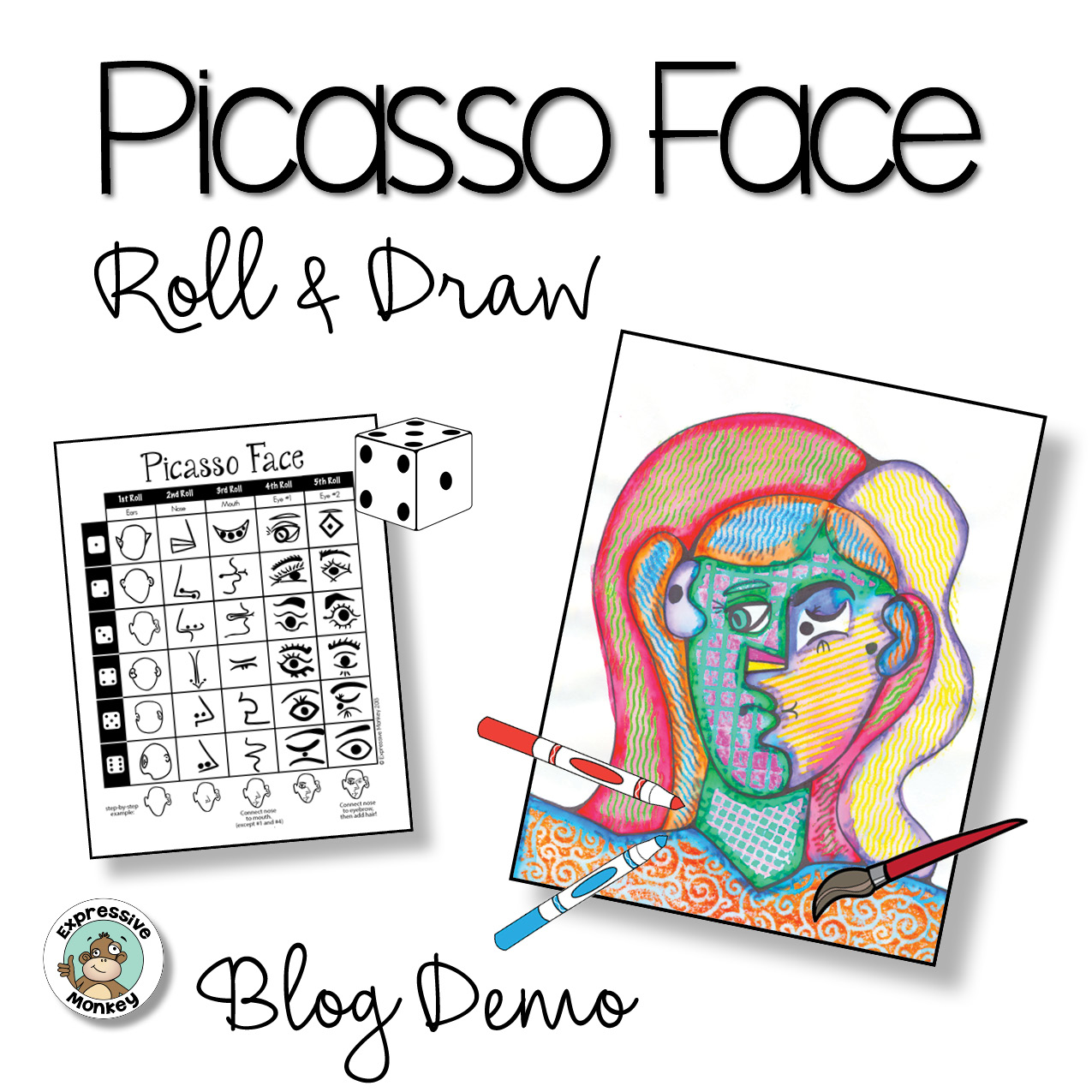 It is a graphic of Refreshing Picasso Face Drawing