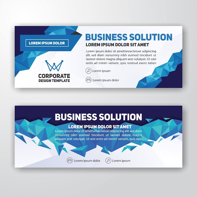 Modern corporate banner background design free vector by vectorkh