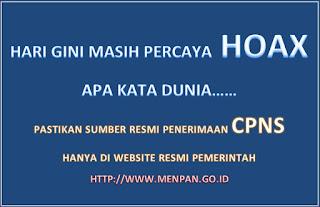 Berita Hoax Pendaftaran CPNS