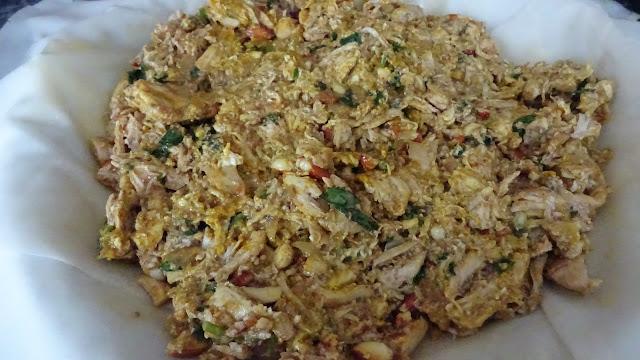 moroccan-chicken-bastilla-egg-coriander-parsley-pepper-salt-turmeric-