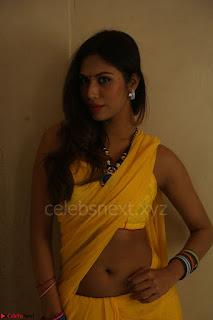 Nishigandha in Yellow backless Strapless Choli and Half Saree Spicy Pics 100.JPG