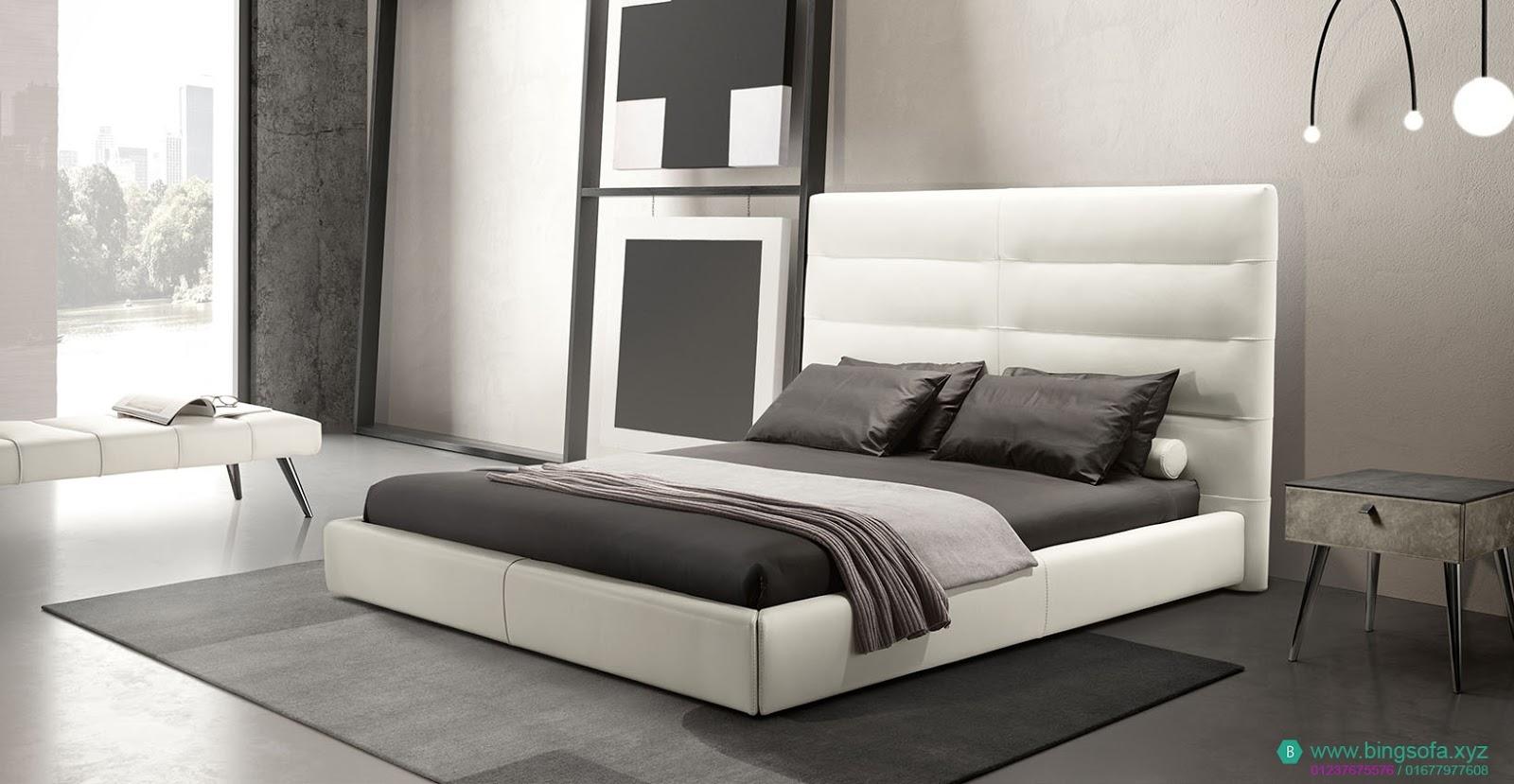 Giường ngủ bọc da cao cấp GN27