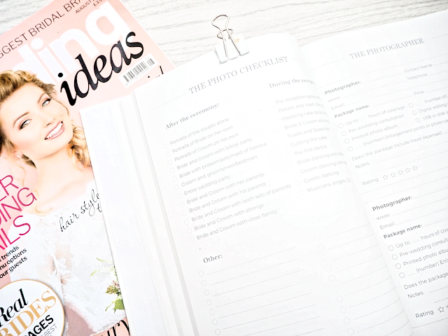 Blush and Gold Wedding Planner Photo Checklist