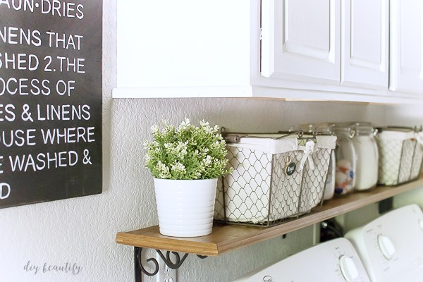 laundry room farmhouse shelf