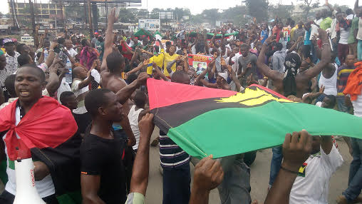 Image result for biafra protesters nigeria