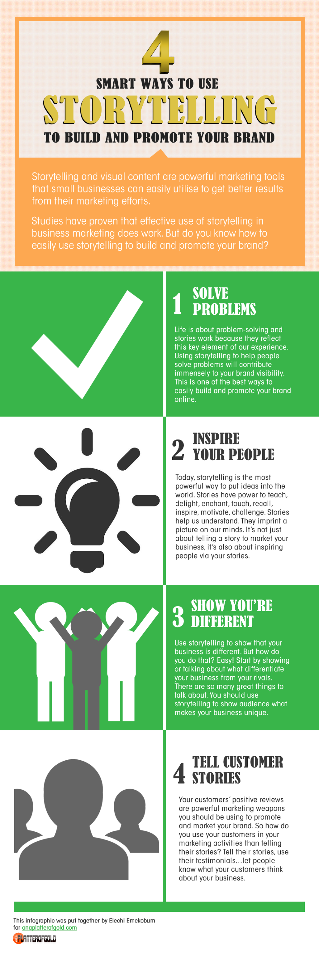 INFOGRAPHIC: 4 SMART Ways To Use Storytelling To Build And Promote Your Brand