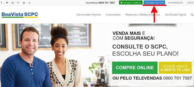 Home Page do site Boa Vista SCPC
