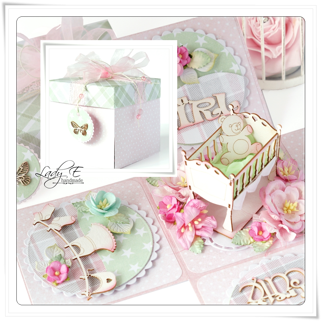 Wild Orchid Crafts Exploding Box For Baby Girl