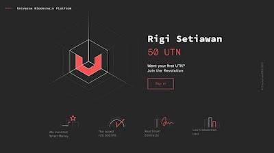 Cara Mendapatkan 50 UTN dari ICO Universa Blockchain Protocol secara Gratis