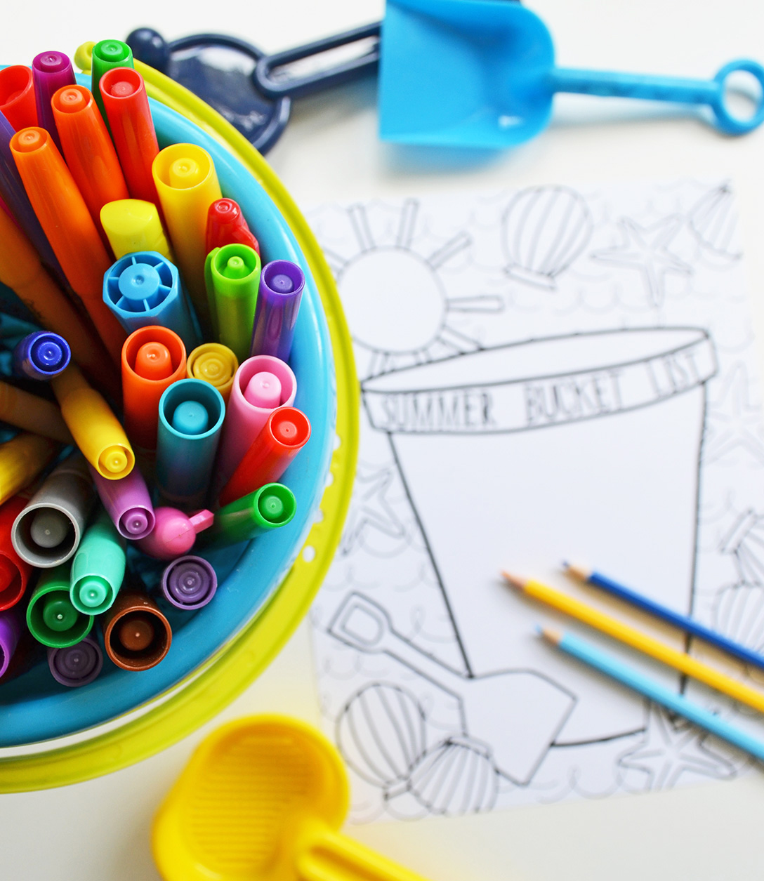 pen & paint: FREE coloring page - Summer Bucket List